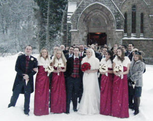 Sophie and Tom get married in St Palladius Church at